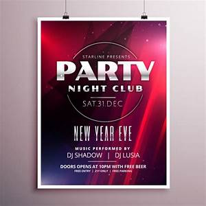 New year's eve party poster template Vector | Free Download