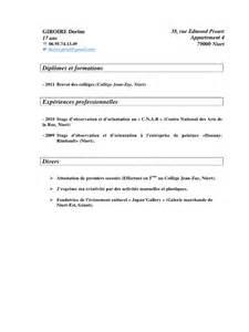 one day resume du resume format cv enseignant college