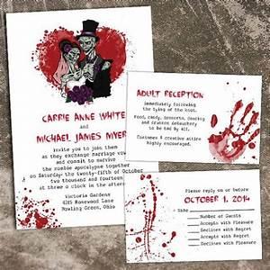 12 spooky wedding invites creative market blog With scary halloween wedding invitations