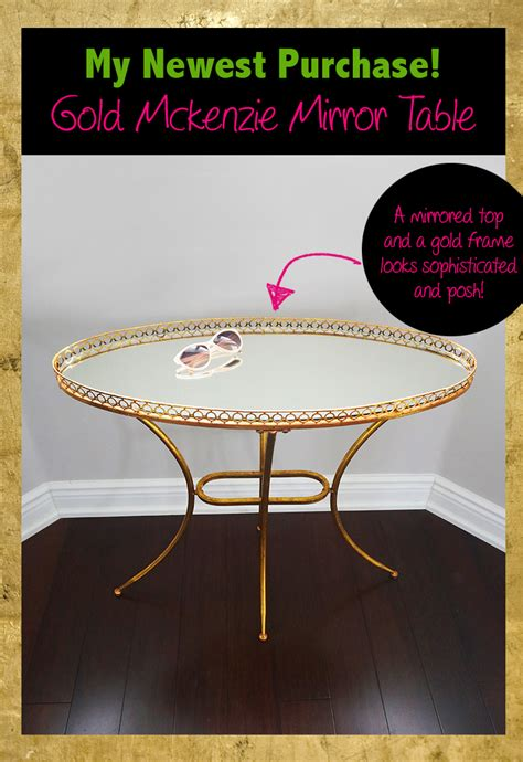 shopping my gold mirrored table from build