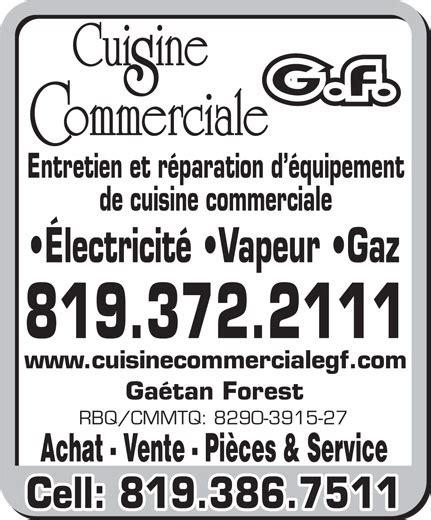 cuisine commerciale cuisine commerciale g f 3275 rue ubald laforest trois
