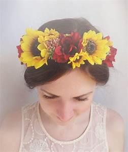 Floral Crown Sunflower Hair Accessories Sunflower Bridal