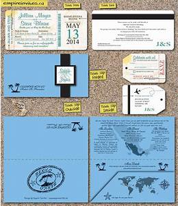 custom destination boarding pass wedding invitations With tropical wedding invitations canada