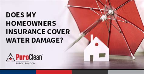 homeowners insurance cover water damage puroclean