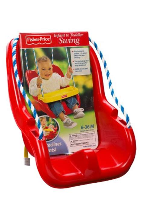 fisher price infant  toddler swing  red  shipping