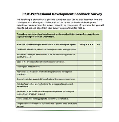sample feedback survey templates  ms word
