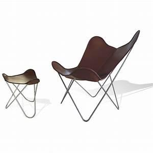 Hardoy Butterfly Chair : ottoman for hardoy butterfly chair leather coffee brown weinbaums ~ Sanjose-hotels-ca.com Haus und Dekorationen