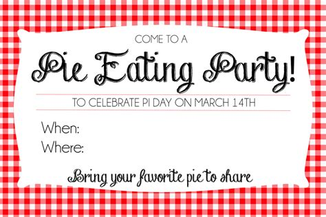How To Host A Pie Day Party + Printable Invites