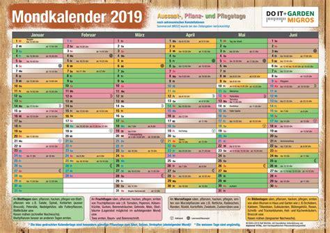 mondkalender  garten kalender plan
