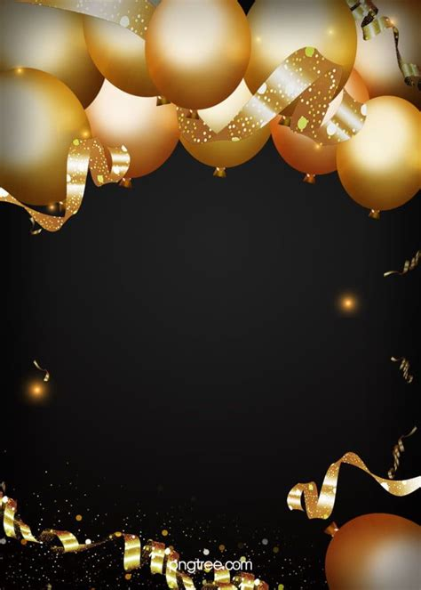 golden party  black background birthday background