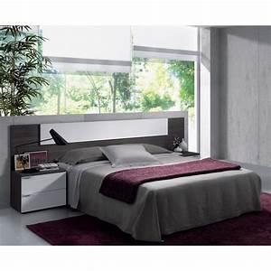 Tete De Lit Chevet : tete de lit avec chevet achat vente tete de lit avec chevet pas cher les soldes sur ~ Teatrodelosmanantiales.com Idées de Décoration