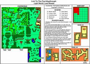 The Legend Of Zelda A Link To The Past Lost Woods Map