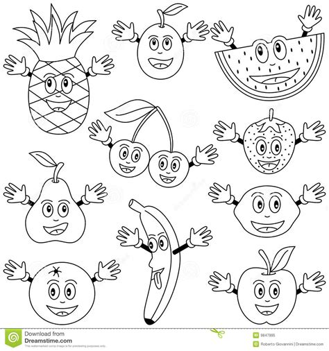 watermelon fruit coloring pages cute drawing kids