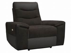 Fauteuil Electrique Conforama : fauteuil relaxation lectrique foster coloris noir en tissu pu vente de tous les fauteuils ~ Teatrodelosmanantiales.com Idées de Décoration