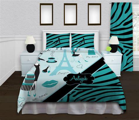 girls paris comforters eiffel tower bedding by