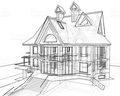 house  technical draw stock photo  pictures