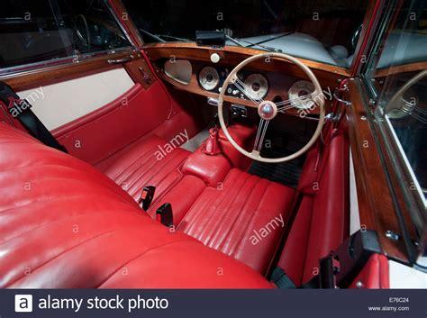 Morgan Plus 4 Classic British Sports Car Interior Stock