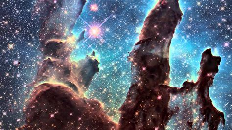 """""""Pillars of Creation"""" iconic image from Hubble 2015 - YouTube"""