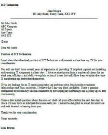 Ict Officer Cover Letter Ict Technician Cover Letter Exle Iocver Org Uk