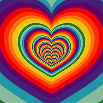 Rainbow Gifs Heart Dot Flag