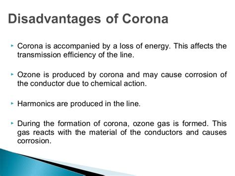 disadvantages of corona radio interference inductive interference b