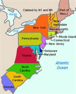Original 13 Colonies New England Colonies