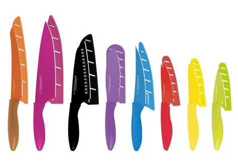 kai pure komachi  nonstick knife set  block sheaths  piece cutlery