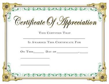 scholastic certificates appreciation certificate