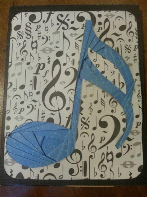 iris fold musical note iris folding paper cards crafts