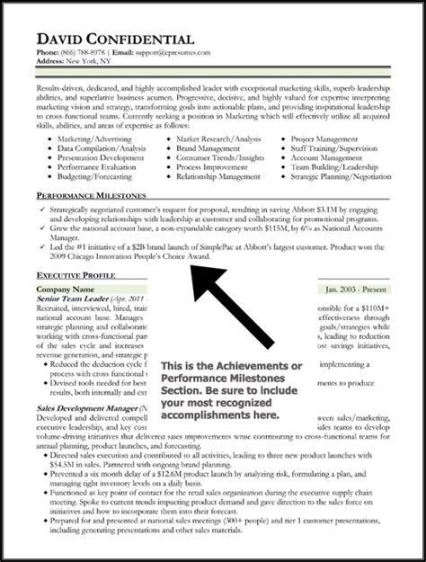 exle resume achievement statements resume exle