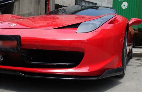 Test all the gadgets to see they function to purpose. Ferrari 458 Italia Carbon Fiber Front Lip Spoiler Body Kit