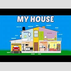 My House For Kids In Hindi  Apna Ghar  Home Vocabulary In Hindi  Preschool Learning Youtube