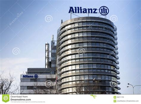 siege social allianz assurance le logo financier et d 39 assurance de groupe d 39 allianz sur