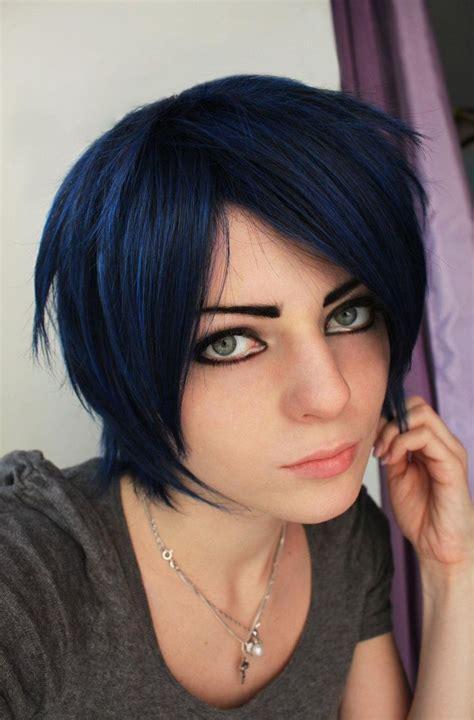 Best 25 Blue Black Hair Color Ideas On Pinterest Hair