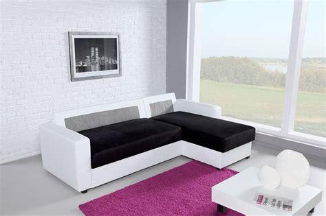 canapé angle noir et blanc photos canapé d 39 angle convertible noir et blanc