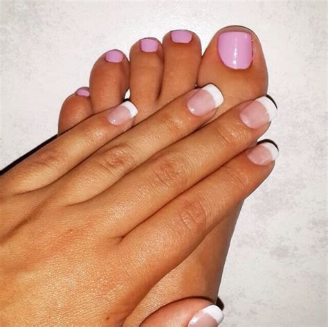 french gel manicure  opi pink polish   toes