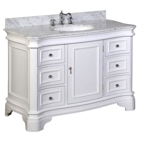 48 white bathroom vanity without top katherine 48 inch vanity carrara white