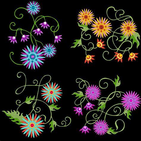 machine embroidery designs starburst flowers 30 machine embroidery designs azeb