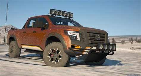 Nissan Conversion by Nissan Titan Warrior 2017 Add On Replace Livery