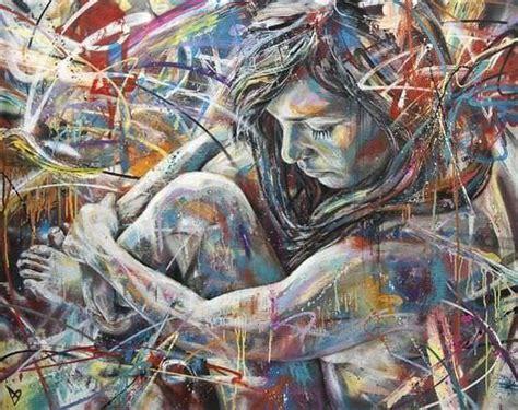 graffiti artist david walker paints  nude girl