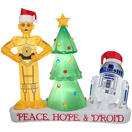 star wars  ft droids     po holiday yard