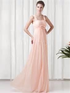 high heels selber designen chiffon empire kleid für hochzeit mit straps und falten in rosa bodenlang milanoo