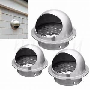 Stainless Steel Wall Air Vent Ducting Ventilation Exhaust