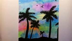 Malen Mit Wasserfarben : palmen mit wasserfarben malen speed drawing painting youtube ~ Orissabook.com Haus und Dekorationen