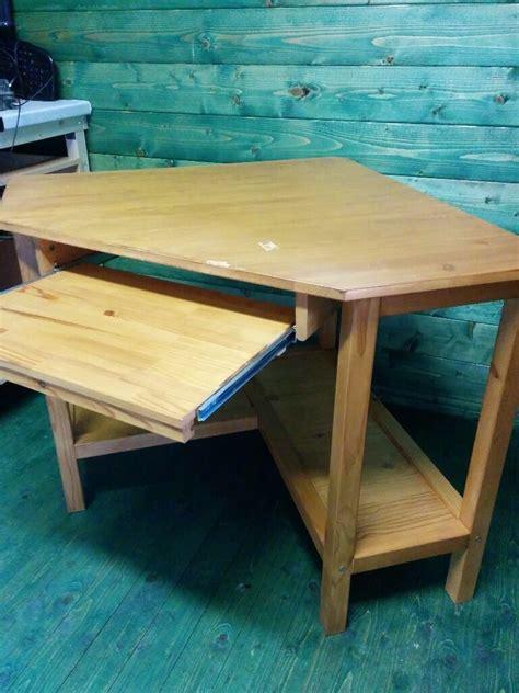 Ikea Schreibtisch Kiefer by Ikea Corner Desk Stained Pine Wood In Lowestoft