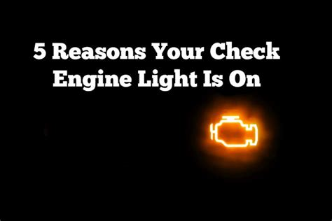 does o reilly check engine light for free 5 reasons your check engine light is on