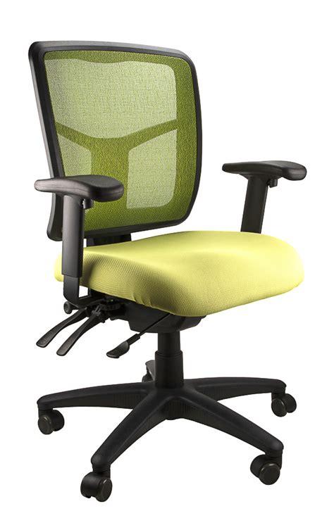 mesh ergonomic office chair blue green yellow black
