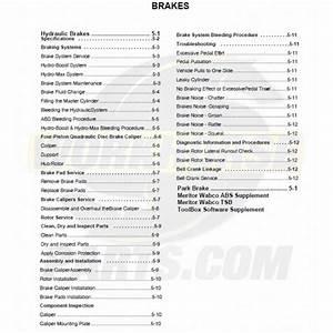 2004-2005 Workhorse Brakes Service Manual Download