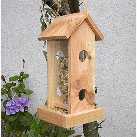 mangeoire a oiseau mangeoire oiseaux bois naturel phare mangeoire oiseaux
