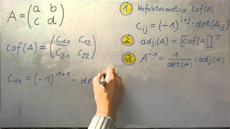 inverse matrix adjunktenverfahren herleitung einer formel